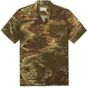 RRL - Slim-Fit Camp-Collar Printed Linen-Blend Shirt - Green