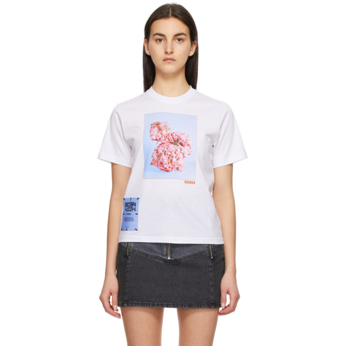 MCQ White Fascinated Flowers T-Shirt