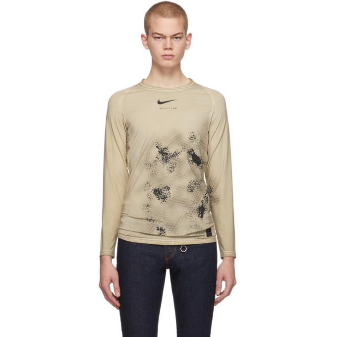 Photo: 1017 ALYX 9SM Beige Nike Edition Treated Long Sleeve T-Shirt