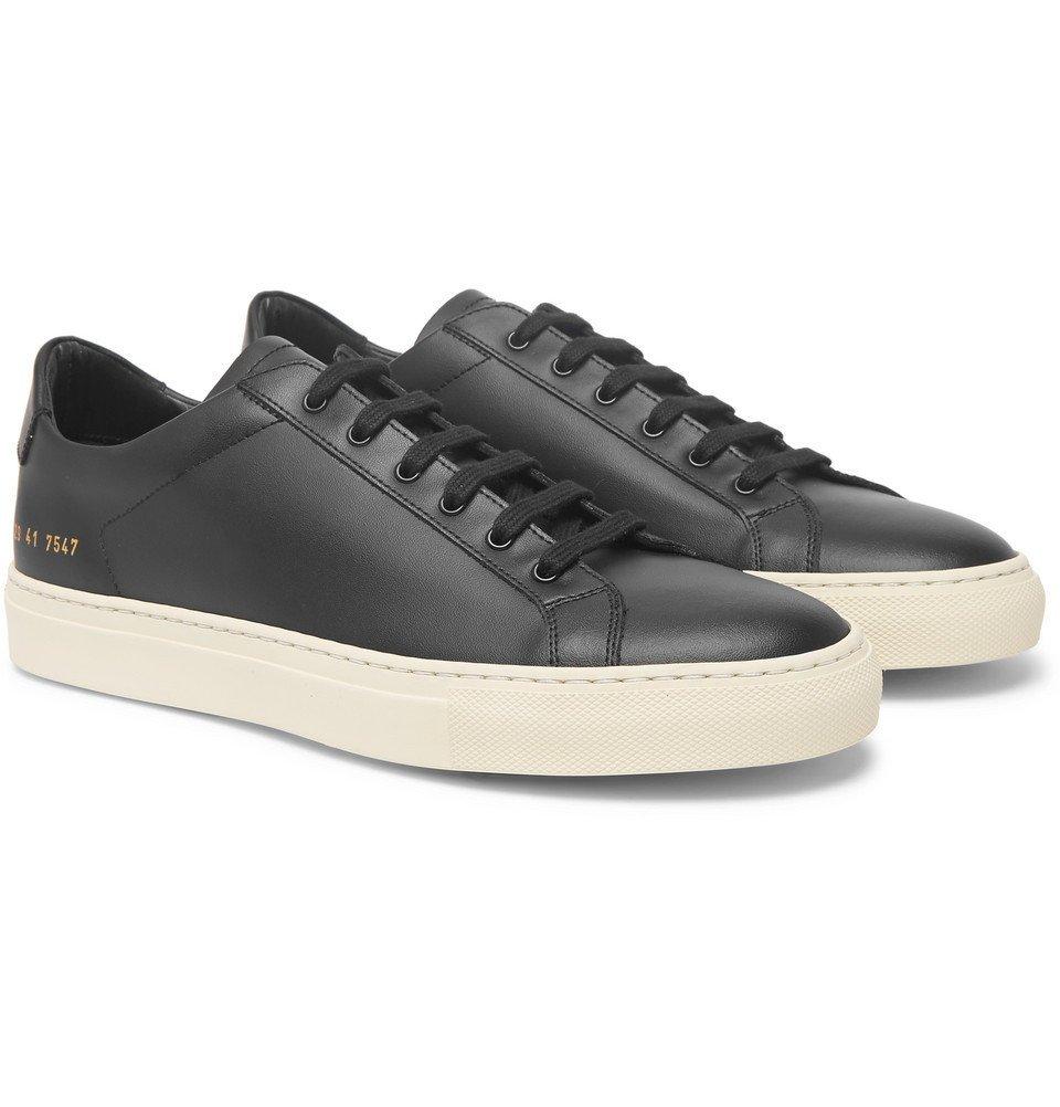 Common Projects - Achilles Retro Leather Sneakers - Men - Black