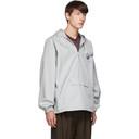 Martine Rose Grey Windbreaker Pullover Jacket