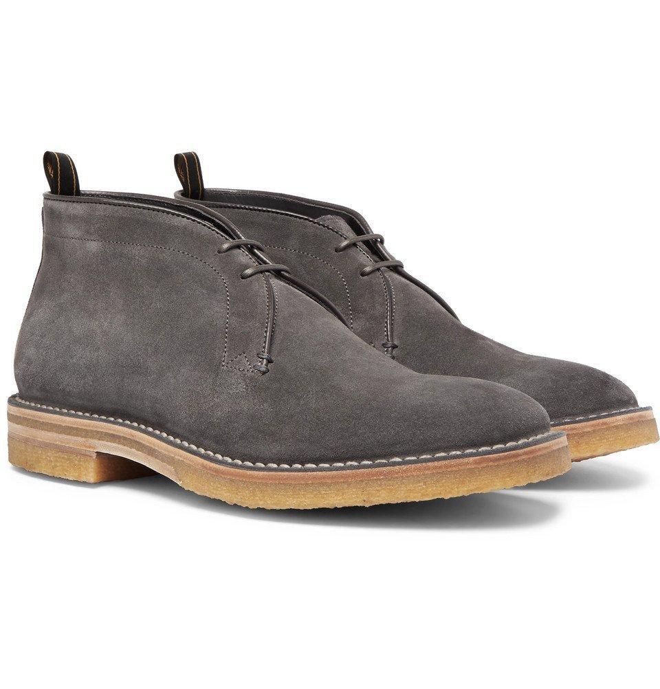 Dunhill - Suede Chukka Boots - Men - Gray