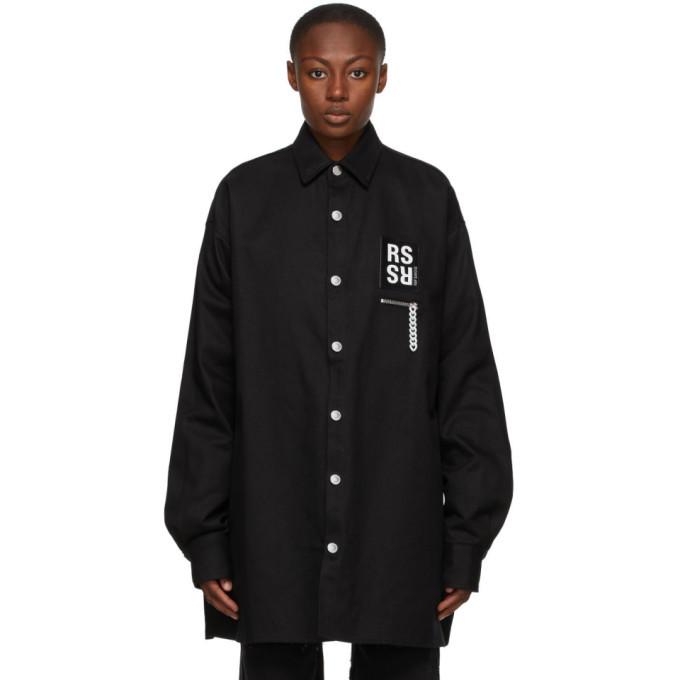 Raf Simons Black Denim Shirt