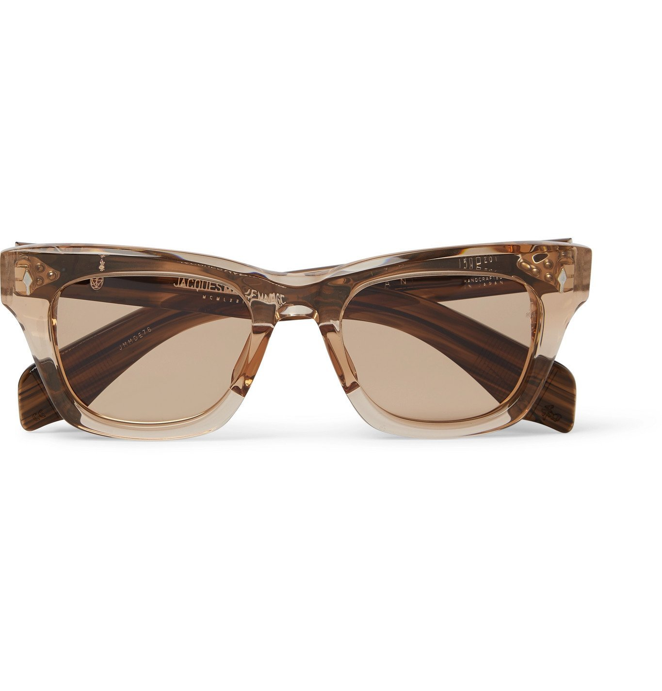 Photo: Jacques Marie Mage - Dealan Square-Frame Acetate Sunglasses - Brown