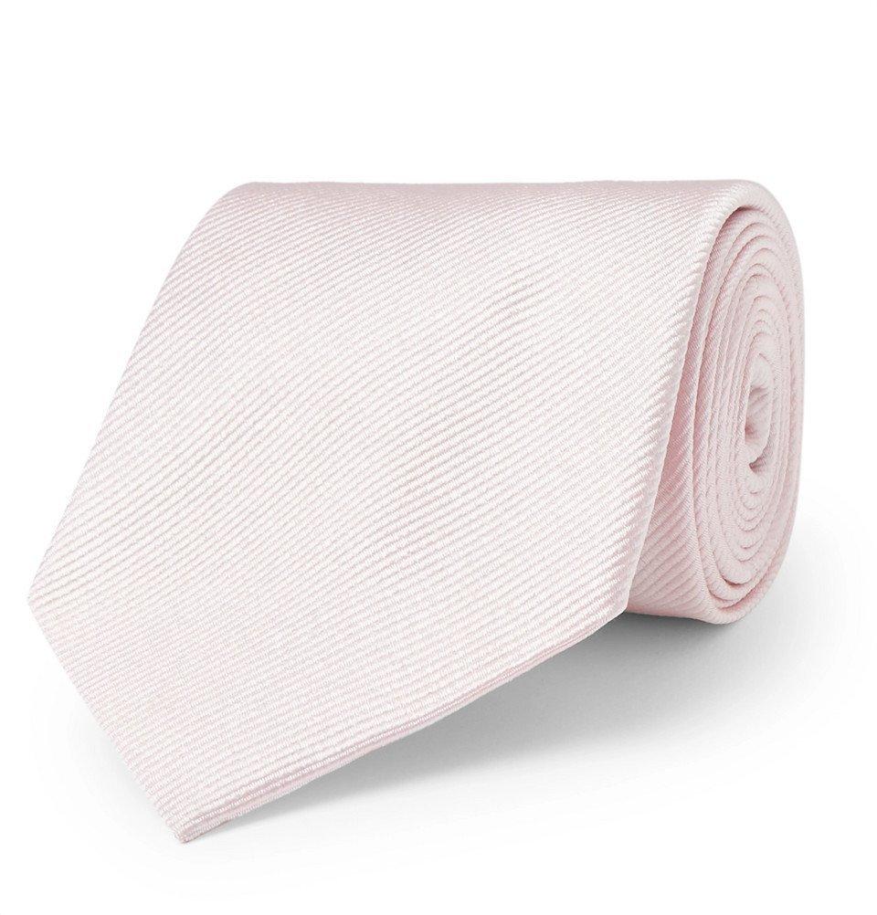 Giorgio Armani - 8cm Silk-Twill Tie - Men - Pink