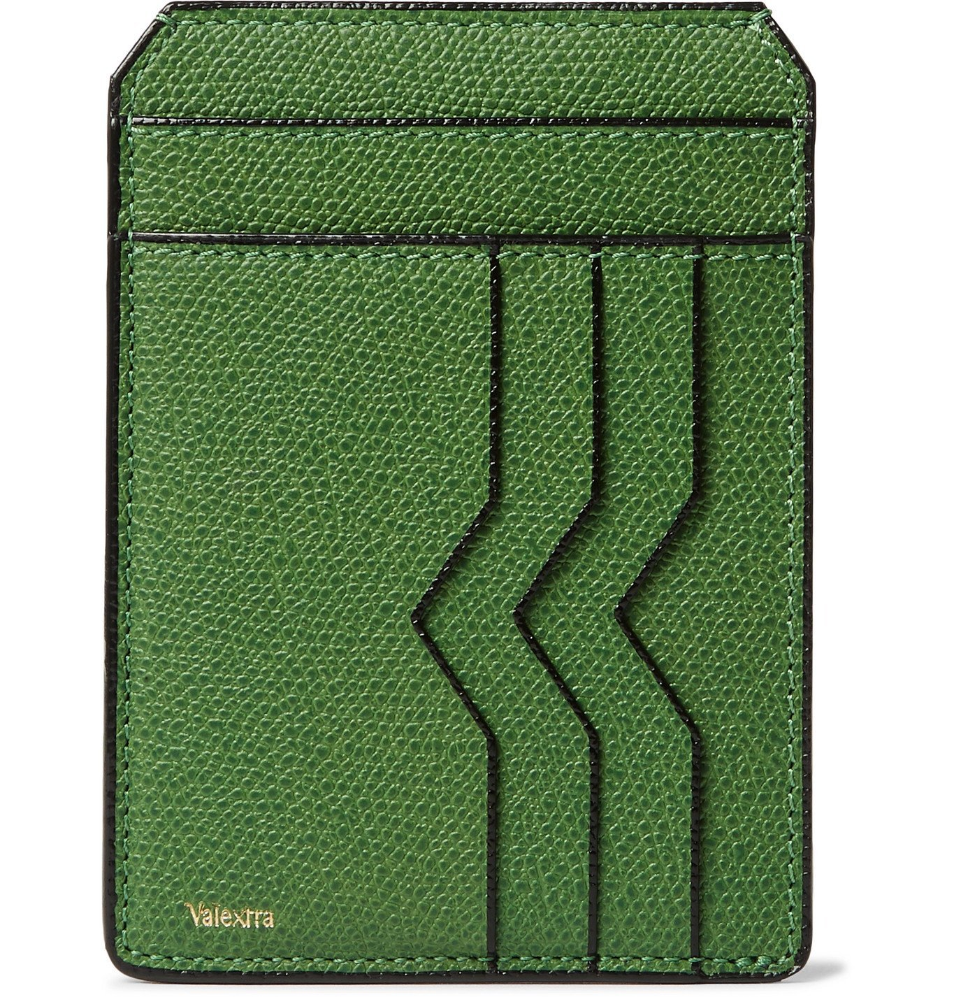 Photo: Valextra - Pebble-Grain Leather Cardholder - Green