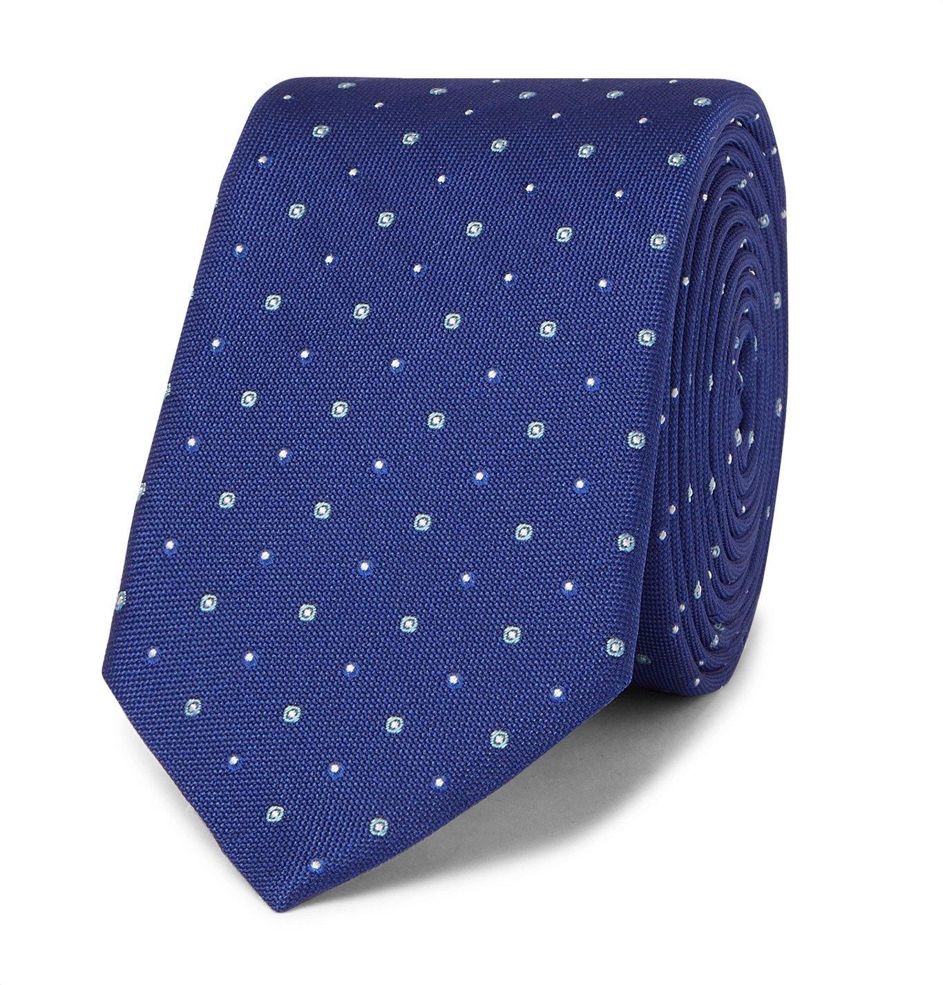 Photo: HUGO BOSS - 6cm Traveller Silk-Jacquard Tie - Blue