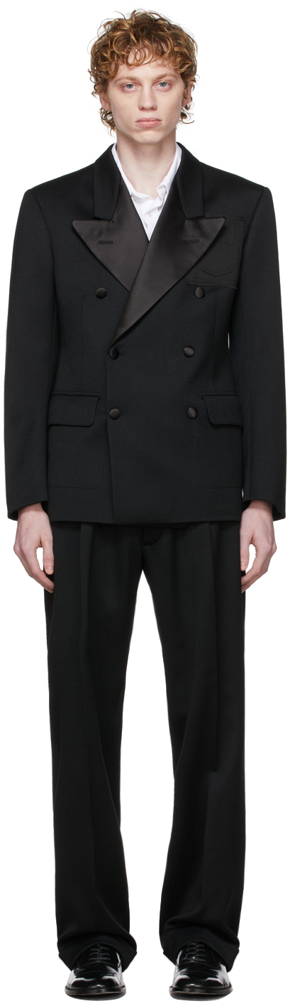 Photo: Maison Margiela Black Wool Barathea Suit