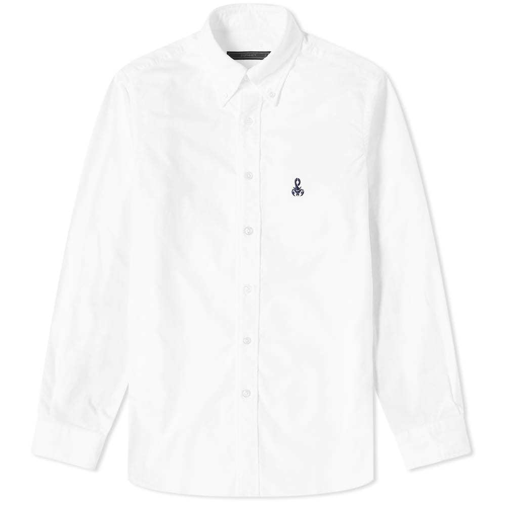 Photo: Sophnet Bandana Sleeve Paneled Button Down Shirt