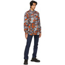MCQ Blue and Orange Relaxed Long Shirt