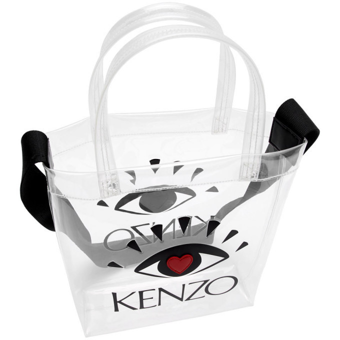 Kenzo White Limited Edition Heart Eye Tote