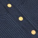 Dunhill - Leather-Trimmed Ribbed Merino Wool Sweater - Men - Blue