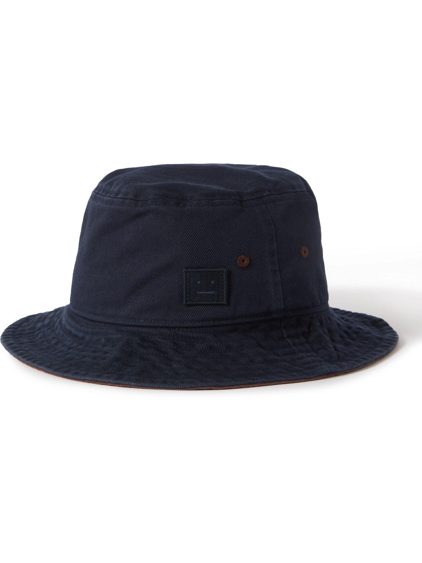 ACNE STUDIOS - Logo-Appliquéd Cotton-Twill Bucket Hat
