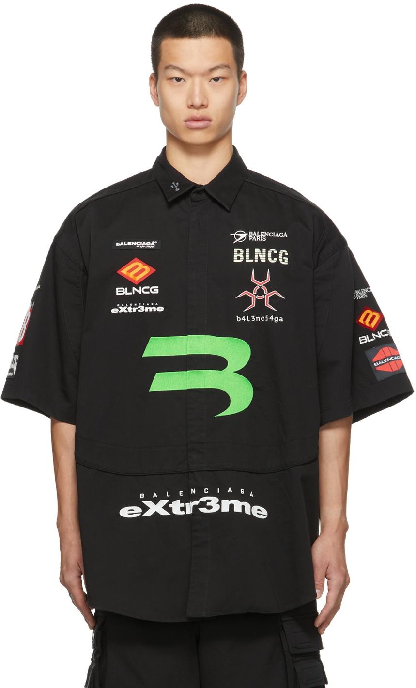 Photo: Balenciaga Gabardine Gamer Short Sleeve Shirt