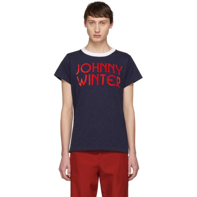Photo: Acne Studios Navy Bla Konst Johnny Winter T-Shirt