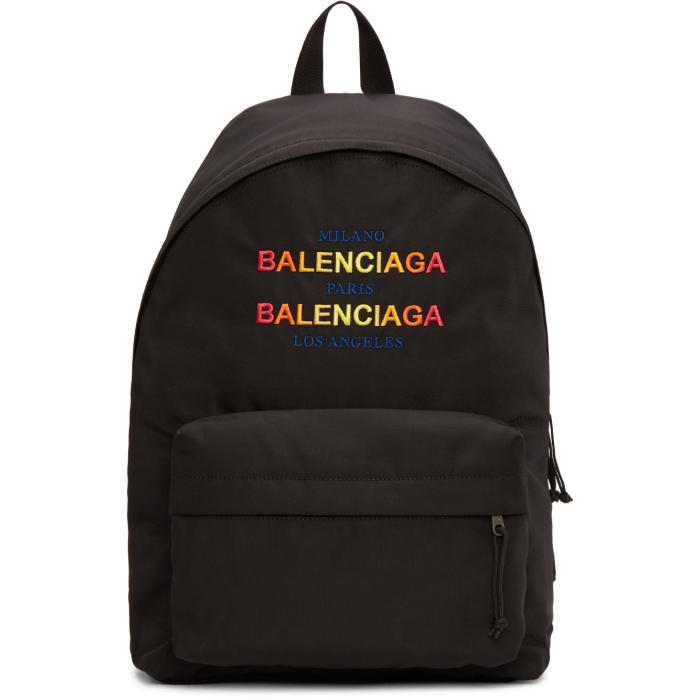 Photo: Balenciaga Black Nylon Explorer Backpack