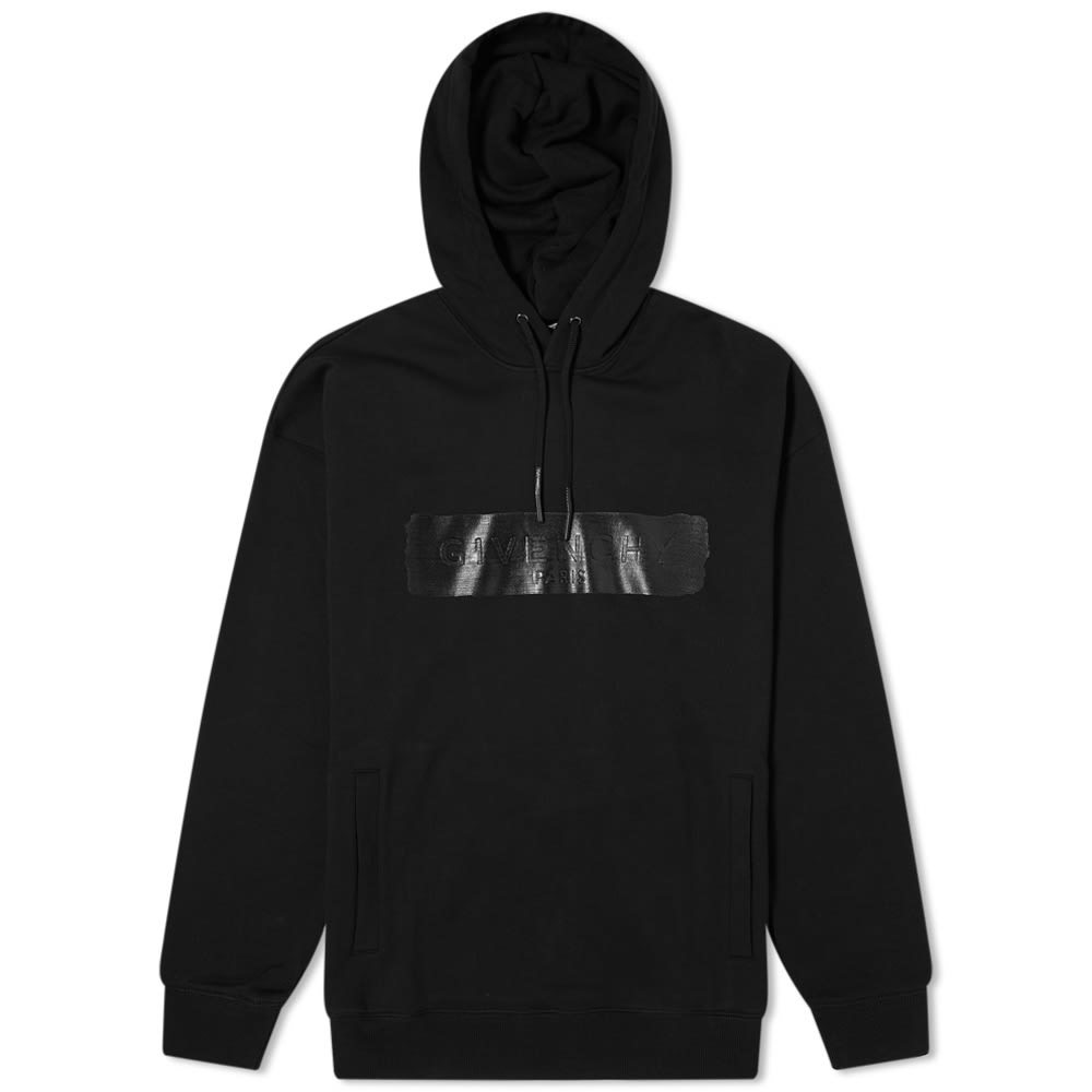 Photo: Givenchy Pin Closure 3D Latex Logo Hoody