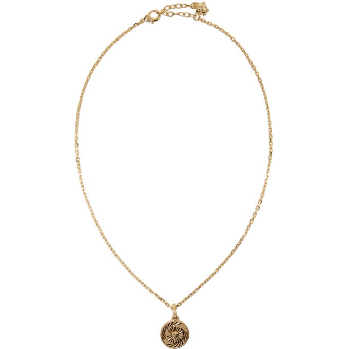 Photo: Versace Gold Round Chain Pendant Necklace