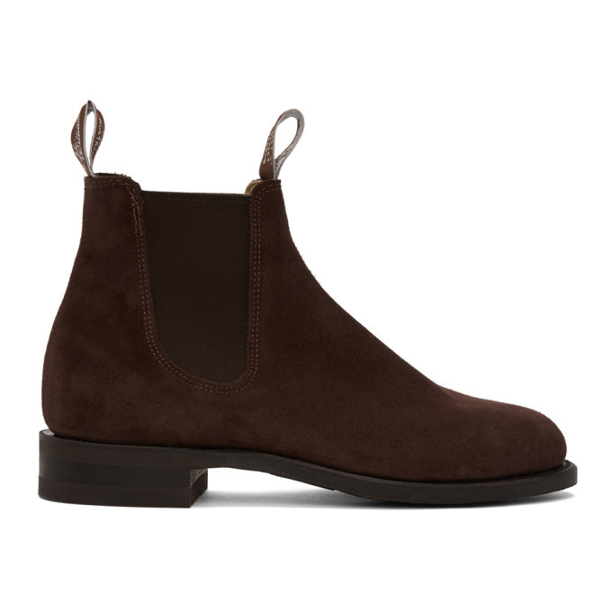 Photo: R.M. Williams Burgundy Suede Comfort Turnout Chelsea Boots