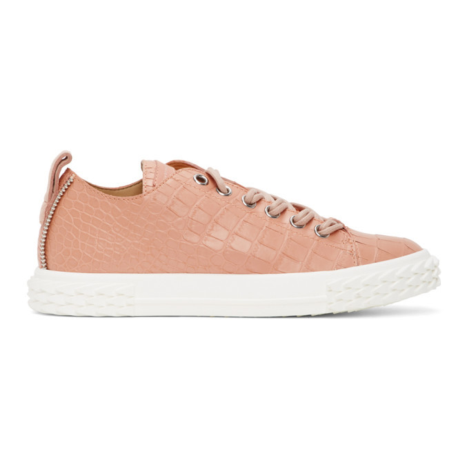 Photo: Giuseppe Zanotti Pink Croc Blabber Sneakers