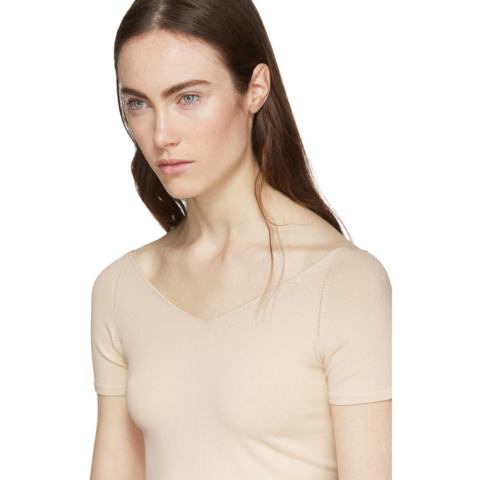 Lemaire Pink Short Sleeve Leotard Sweater