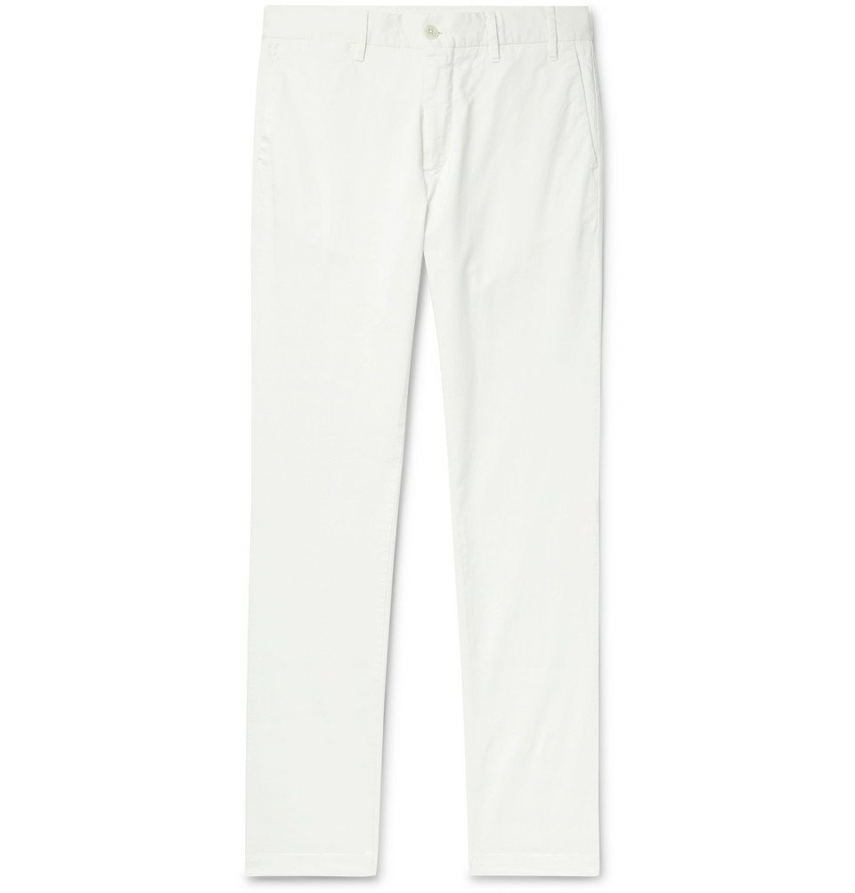 Photo: Norse Projects - Aros Slim-Fit Stretch-Cotton Twill Chinos - White