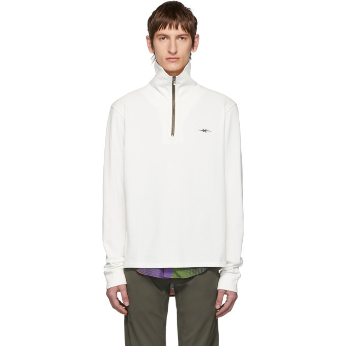 Photo: Phipps Off-White Baselayer Half-Zip Pullover