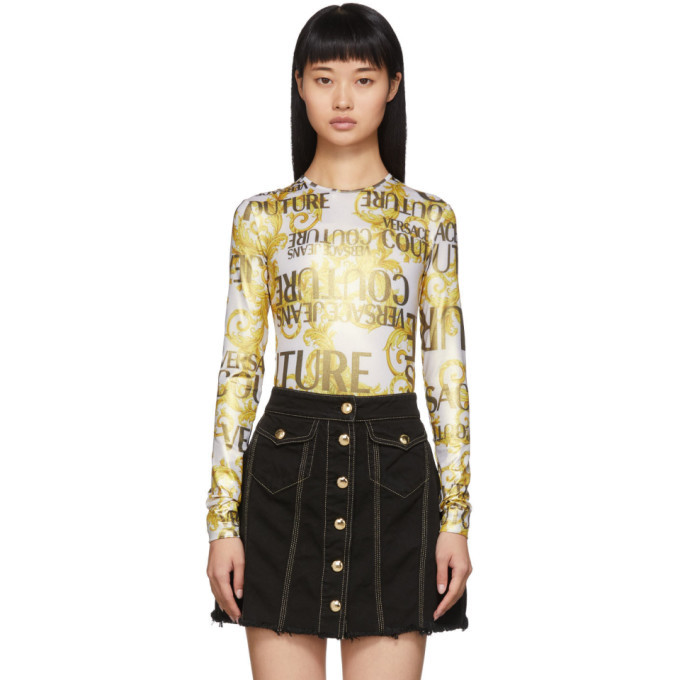 Photo: Versace Jeans Couture Gold Barocco Bodysuit