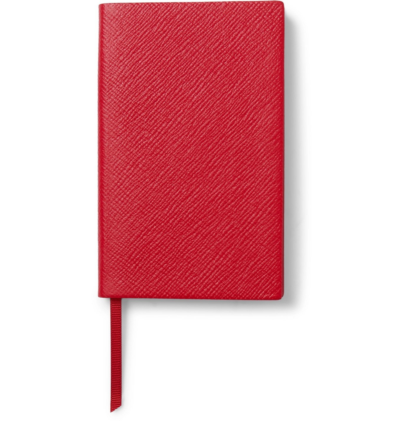 Smythson - Panama Cross-Grain Leather Notebook - Red