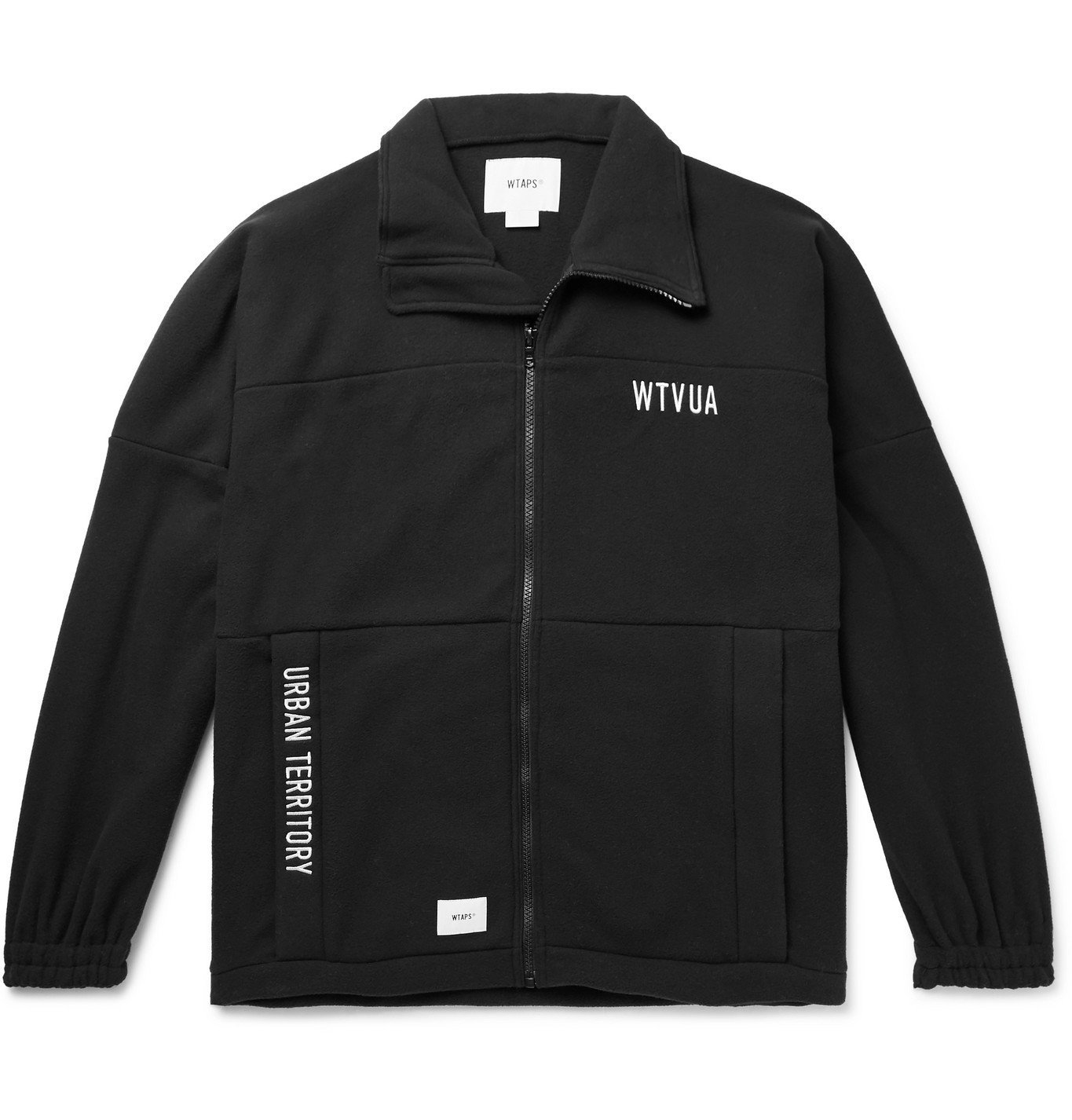 Photo: WTAPS - Forester Logo-Appliquéd Embroidered Fleece Zip-Up Sweatshirt - Black