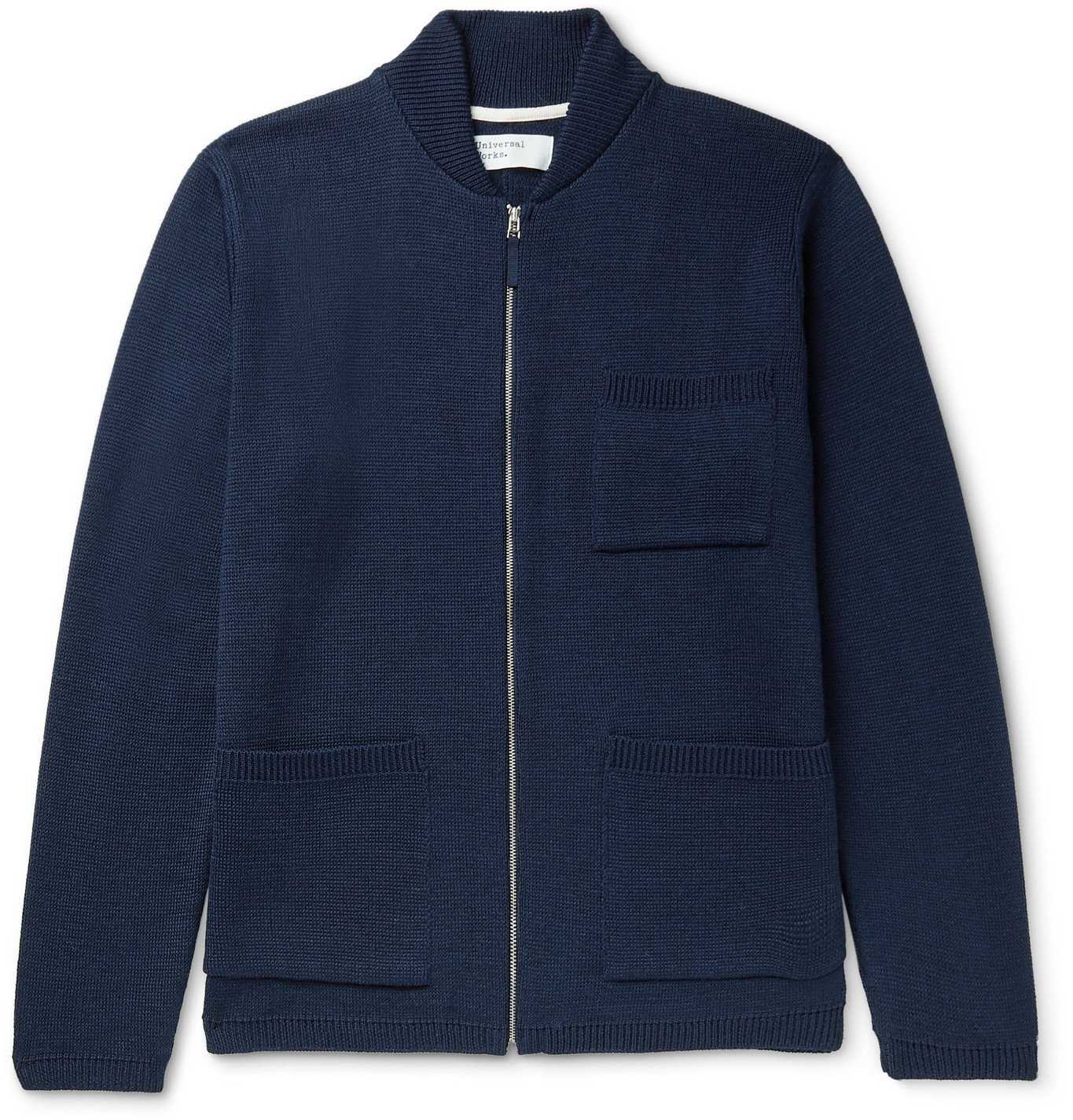 Photo: Universal Works - Merino Wool-Blend Zip-Up Cardigan - Blue