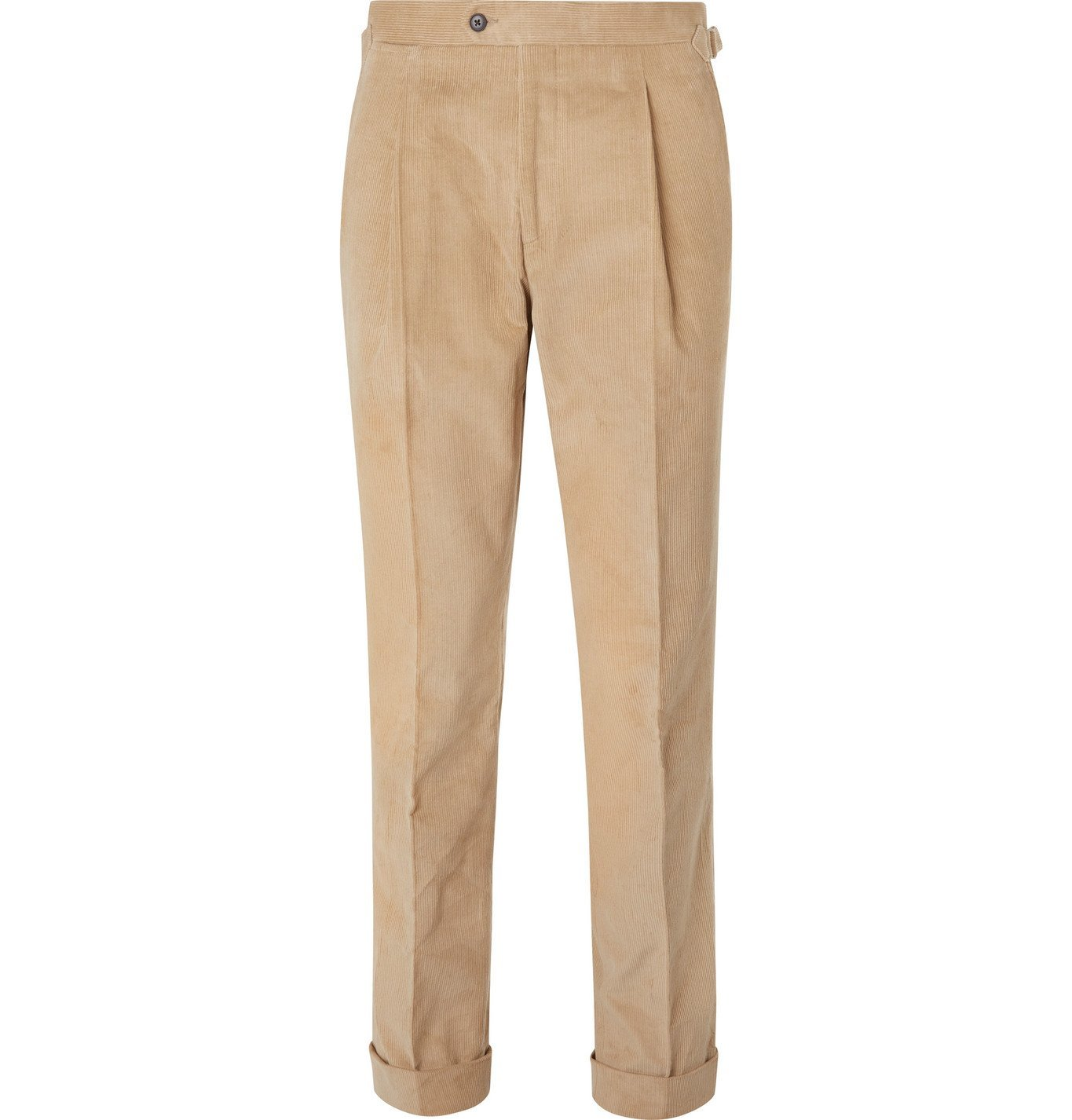 Photo: Saman Amel - Slim-Fit Cotton-Corduroy Suit Trousers - Neutrals