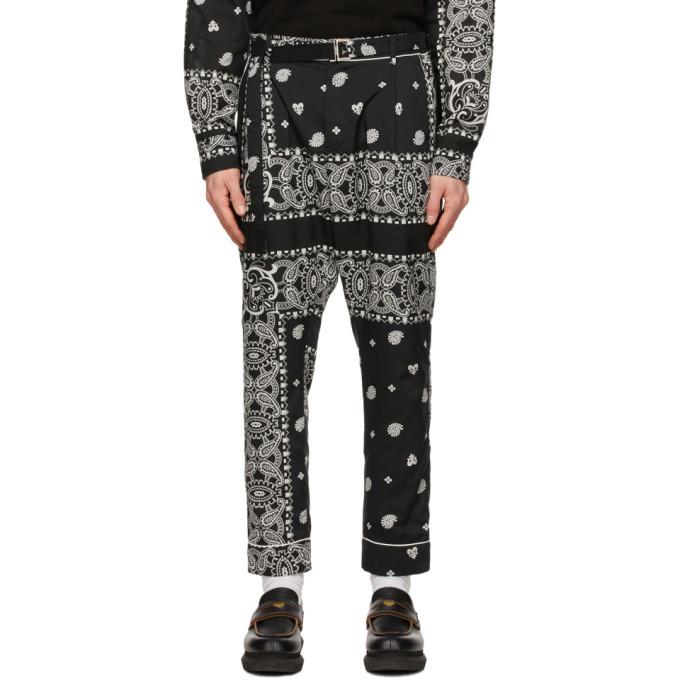 Sacai Black Archive Print Mix Trousers
