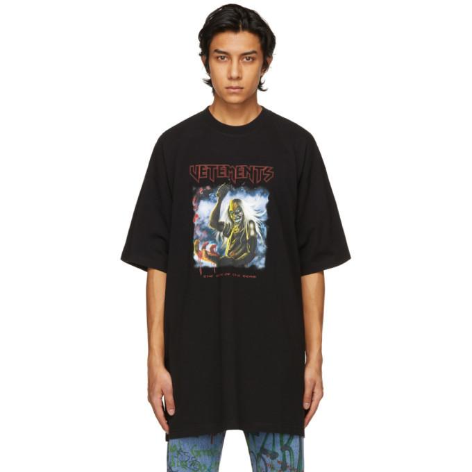 Photo: VETEMENTS Black Heavy Metal Electric Logo T-Shirt