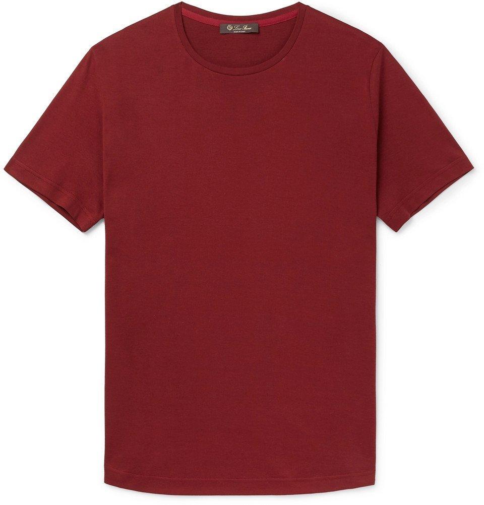 Photo: Loro Piana - Slim-Fit Silk and Cotton-Blend Jersey T-Shirt - Red