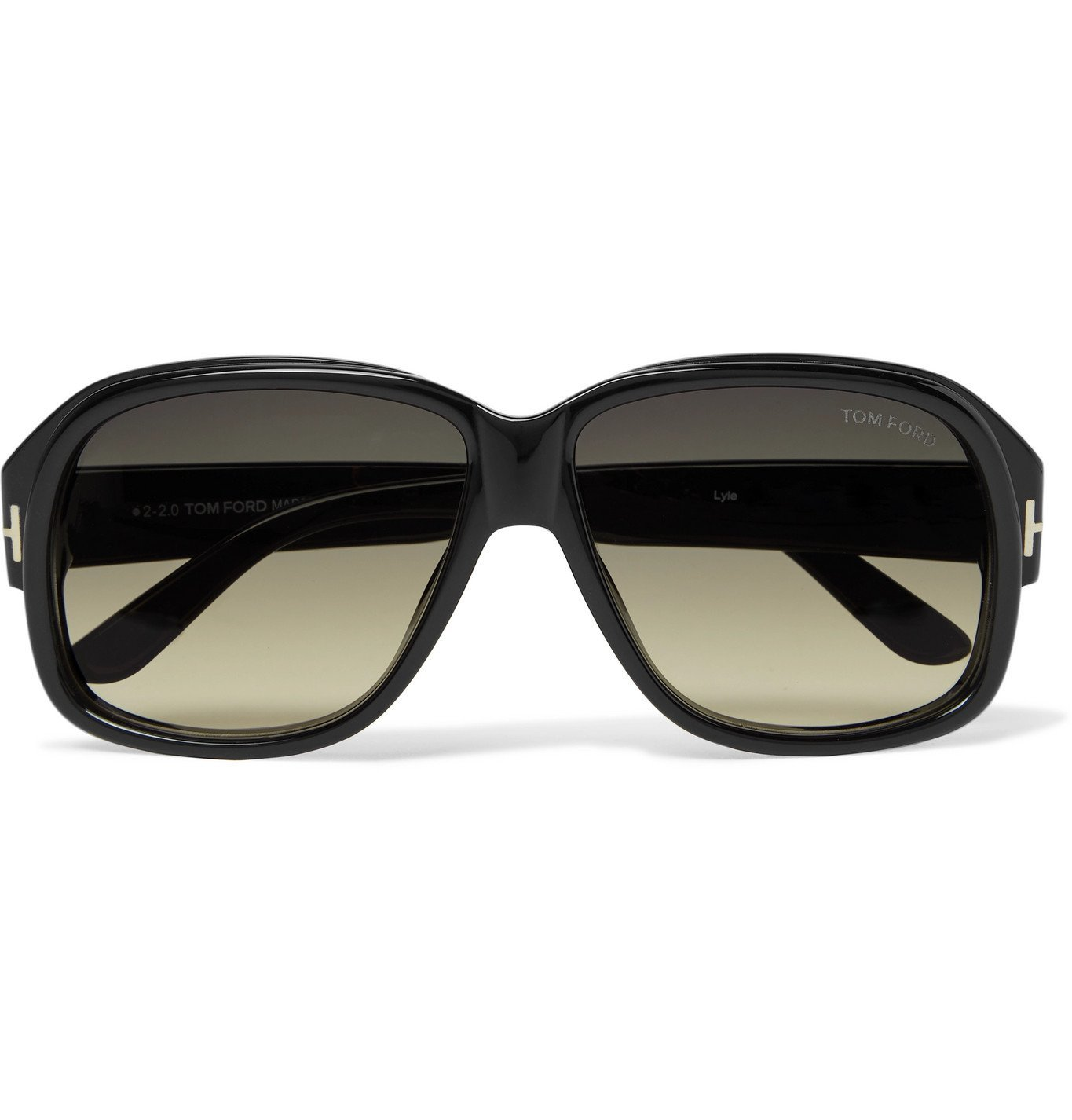 Photo: TOM FORD - Lyle Square-Frame Acetate Sunglasses - Black