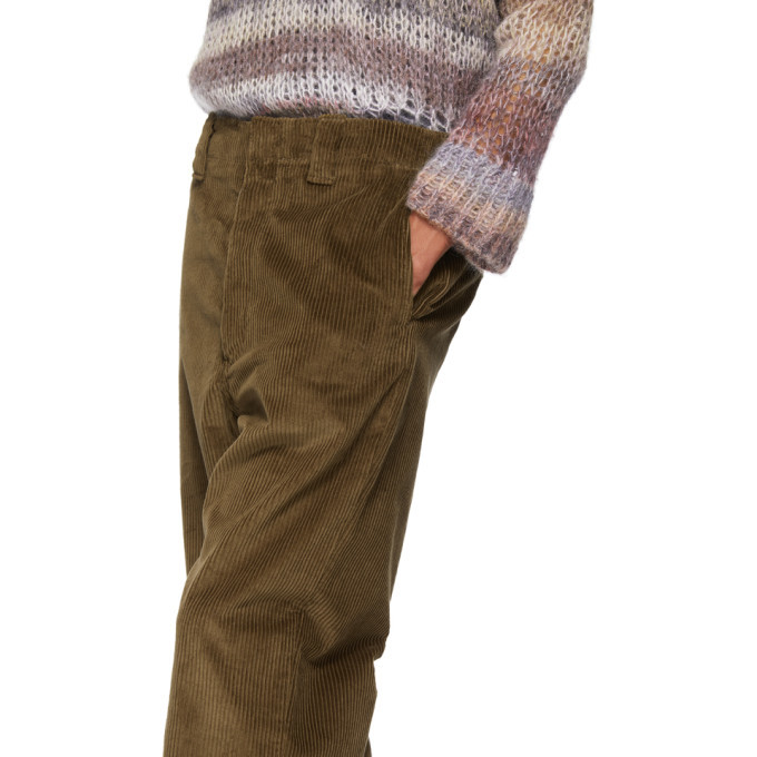 Acne Studios Brown Corduroy Trousers