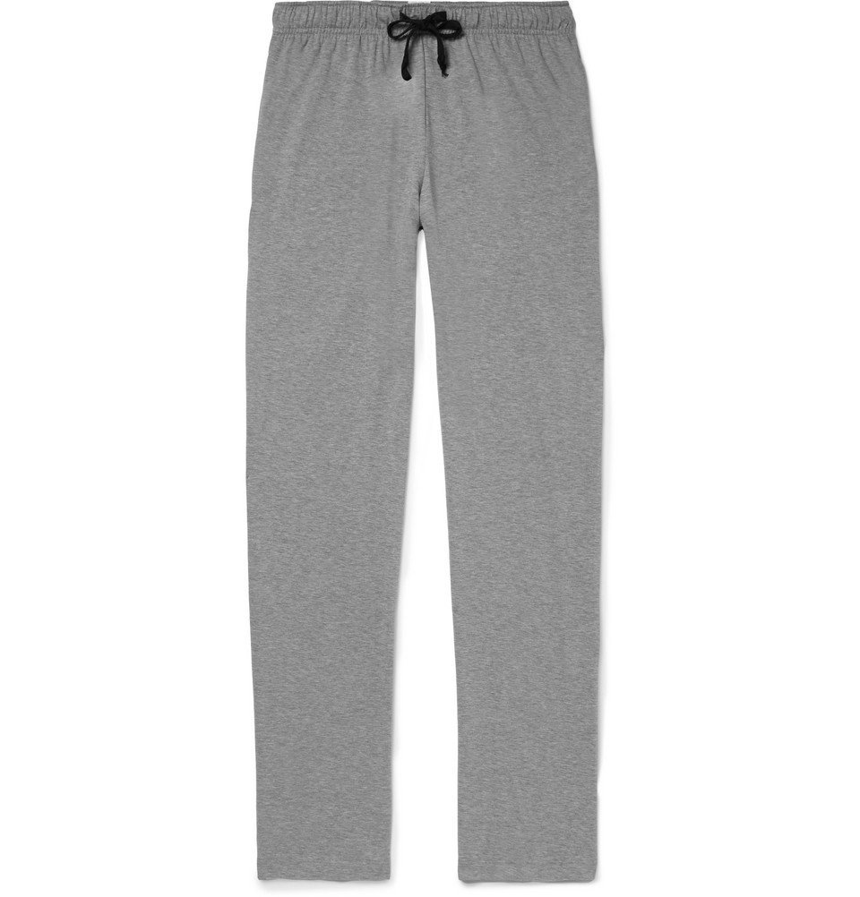Photo: Schiesser - Cotton-Jersey Pyjama Trousers - Gray