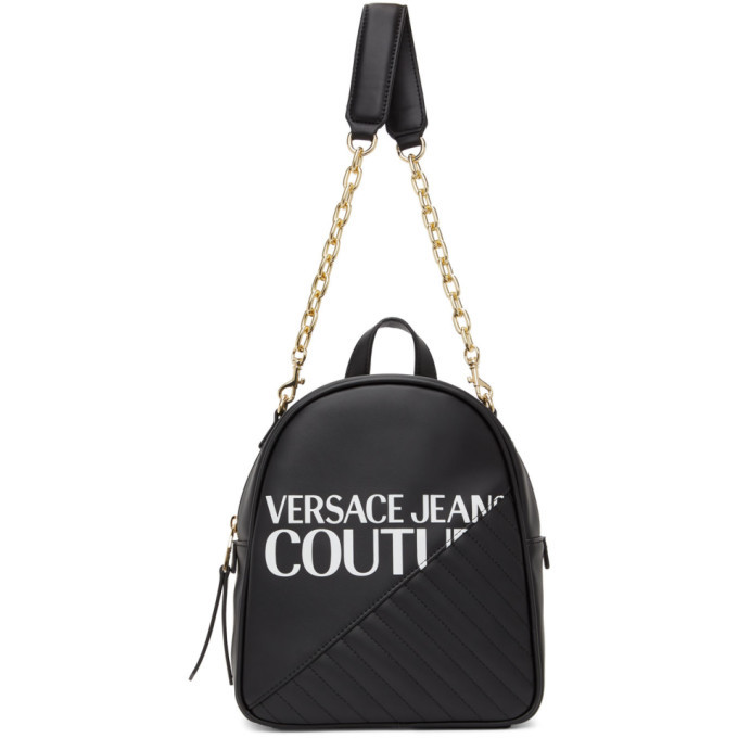 Versace Jeans Couture Black Chain Backpack