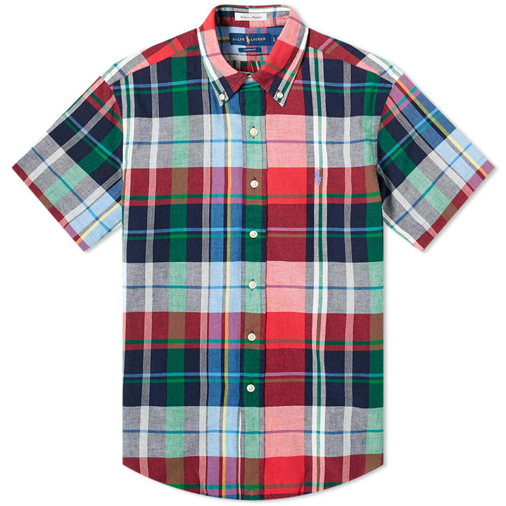 Photo: Polo Ralph Lauren Short Sleeve Button Down Madras Shirt