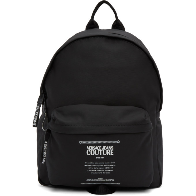 Photo: Versace Jeans Couture Black Warranty Label Backpack