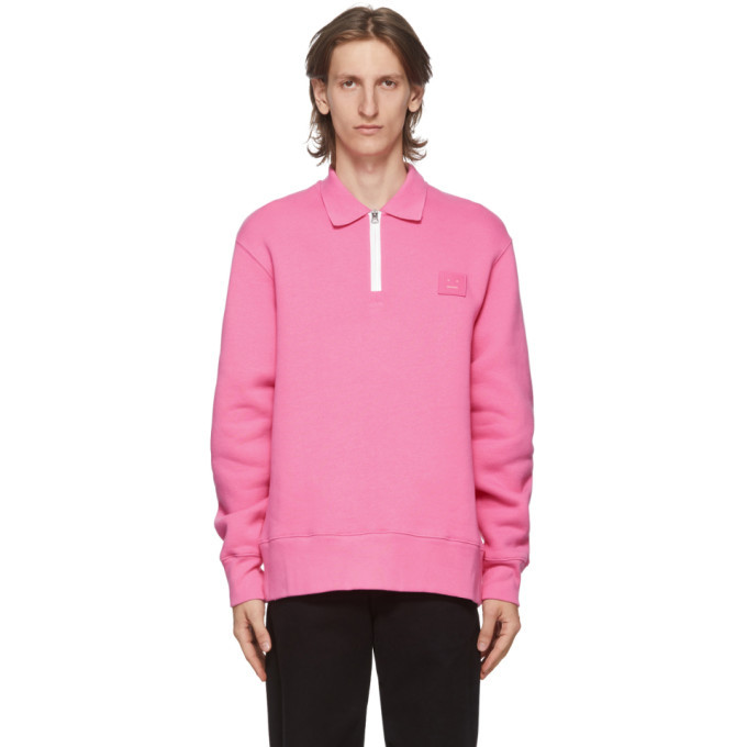 Photo: Acne Studios Pink Point Collar Oversized Sweatshirt