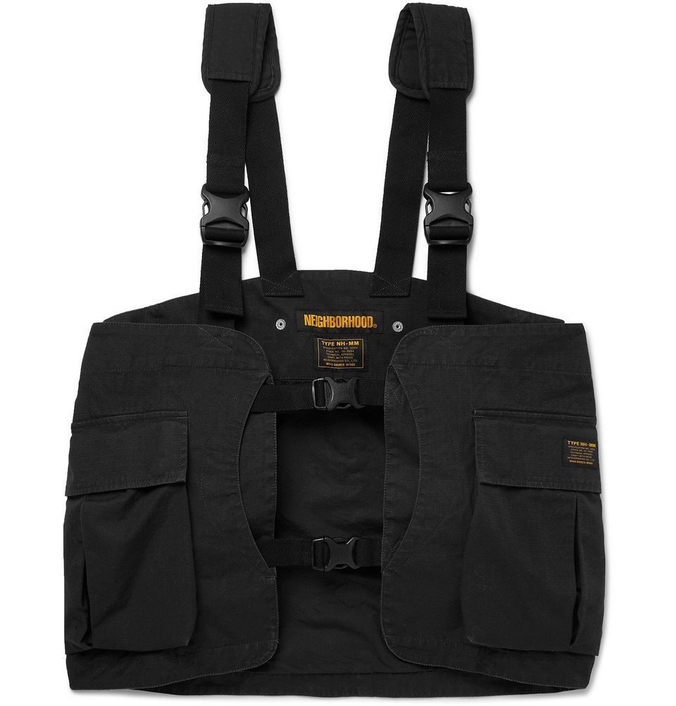 Photo: Neighborhood - Cotton-Ripstop Cargo Vest - Black
