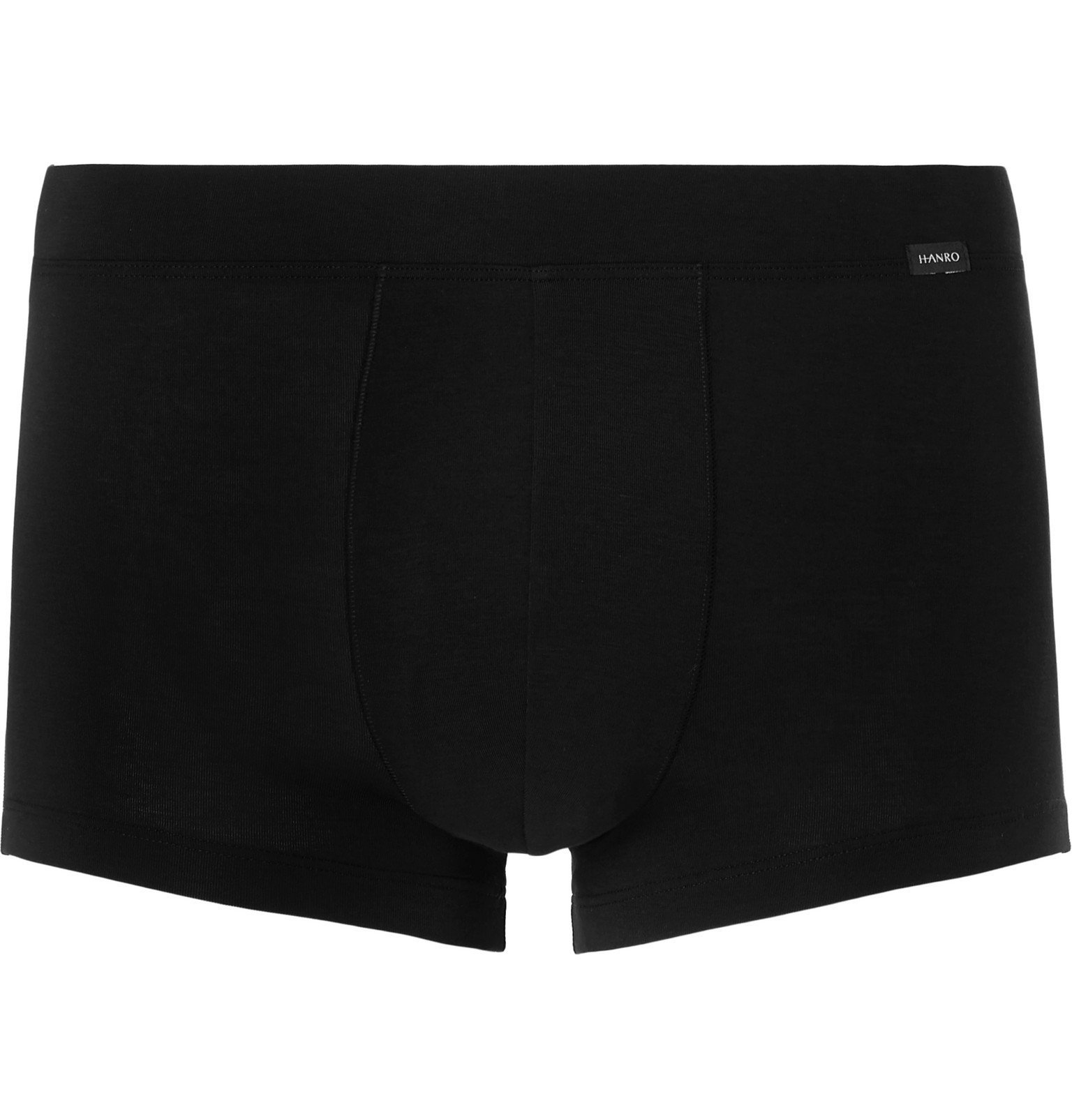 Photo: Hanro - Stretch Lyocell and Cotton-Blend Boxer Briefs - Black