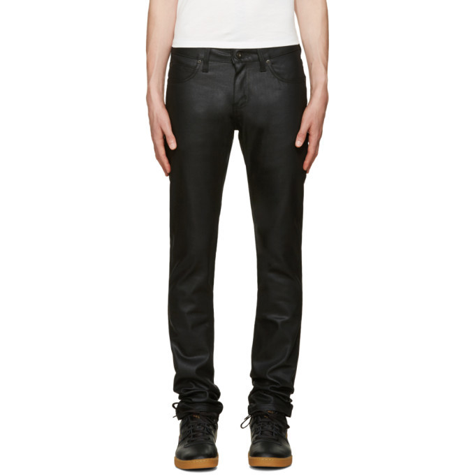 Photo: Naked and Famous Denim Black Superskinny Guy Jeans
