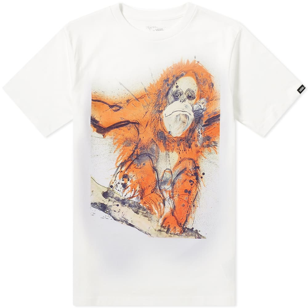 Photo: Vans Vault x Ralph Steadman Orangutan Tee White