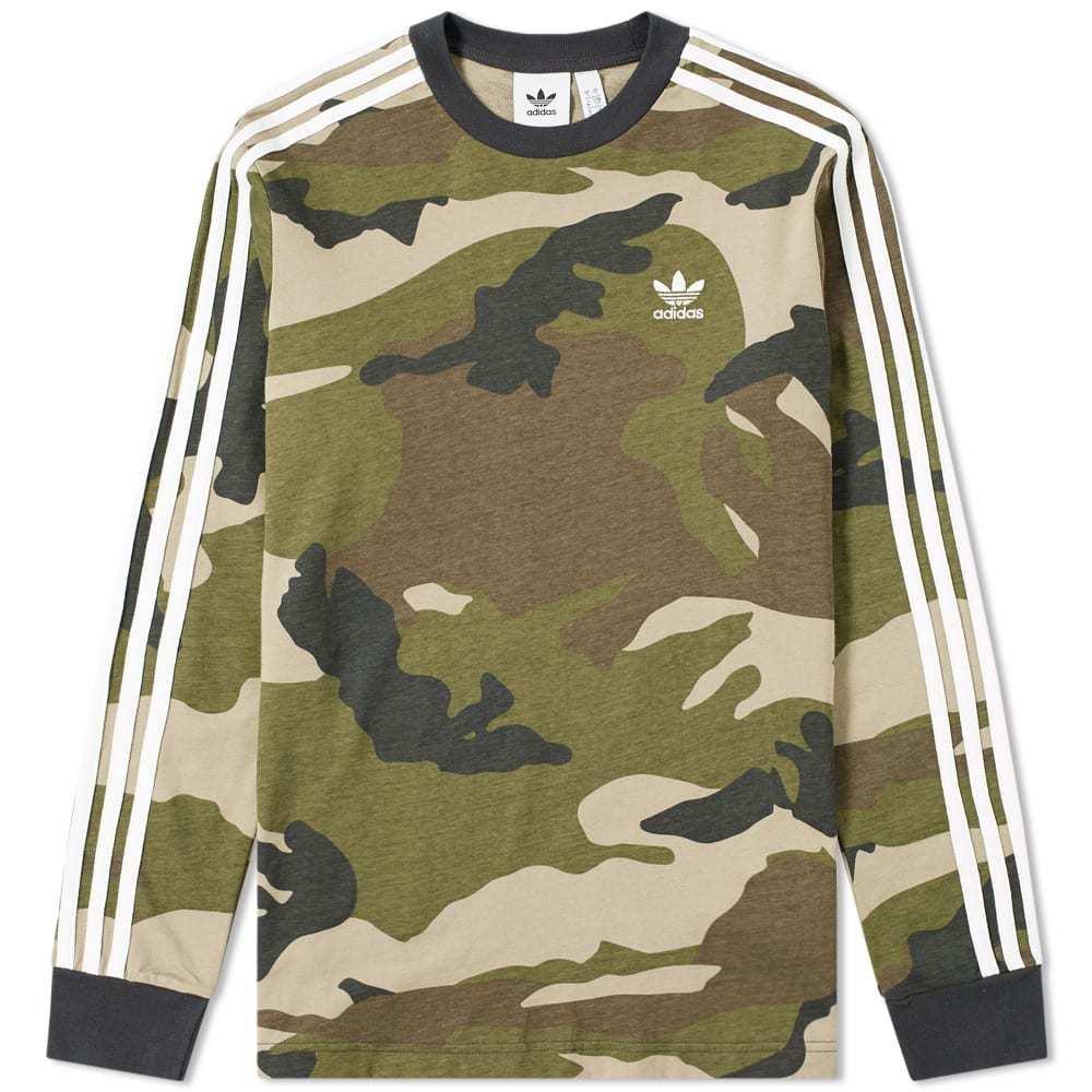 Adidas Long Sleeve Camo Tee Camo
