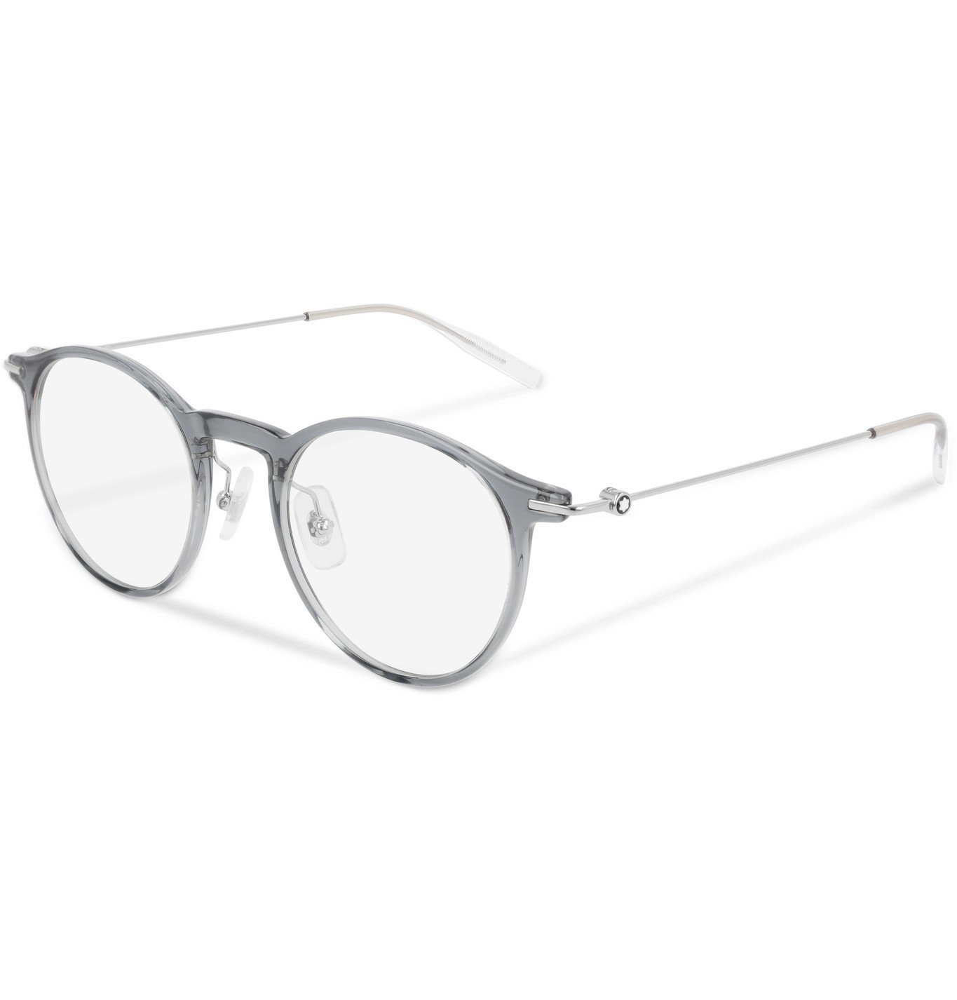 Photo: Montblanc - Round-Frame Silver-Tone and Acetate Optical Glasses - Unknown