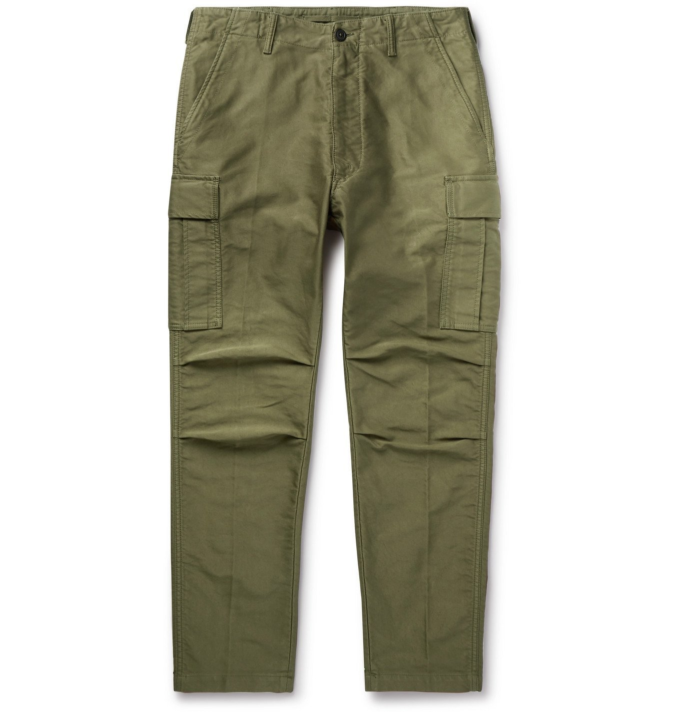 Photo: TOM FORD - Slim-Fit Cotton Cargo Trousers - Green