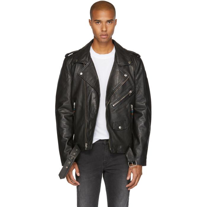 Photo: BLK DNM Black Leather Classic 5 Biker Jacket